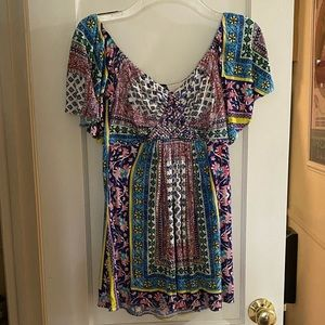 Sky Brand Off Shoulder Paisley Blouse Size Small